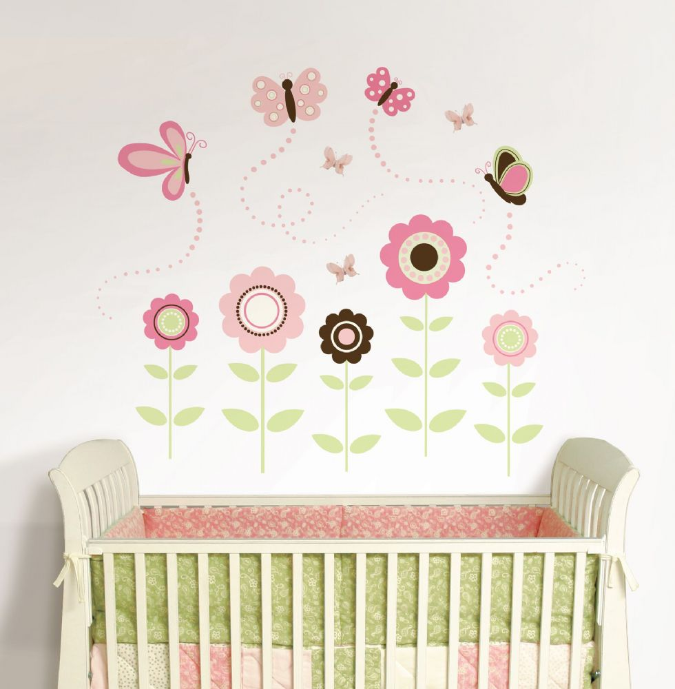 Wall Art Stickers butterfly and flower wall stickers - home design ideas